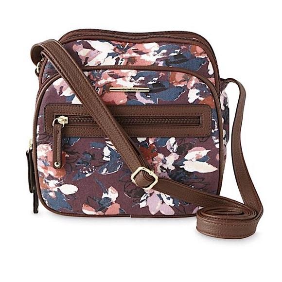 Jaclyn Smith Handbags - Jaclyn Smith   Lady's Zip Floral Crossbody Bag